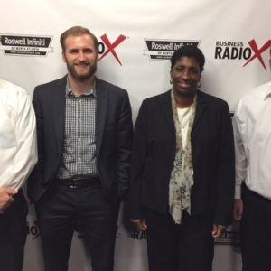 Luke Keller with Amplio Recruiting, Diane Dixon with Stryde Savings, and Alex Porter with FOX Digital Strategies