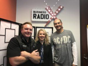 Arnold Huffman with Digital Yalo, Julie McGhee Howard with NowackHoward and Chad Finnegan with Impact Cryotherapy