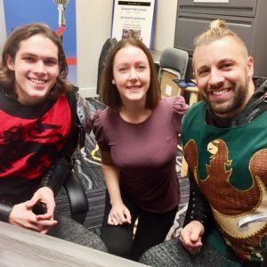 Katie Ortiz, Jason Jones & Dominick Ficco from Medieval Times