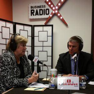 Sarah Morrison with Shepherd Center and Executive Coach John Fenton