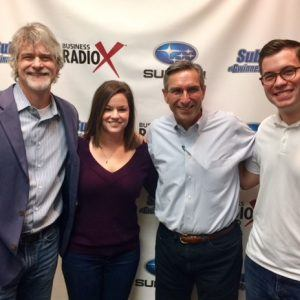 SIMON SAYS, LET'S TALK BUSINESS: Rob Marbury & Shelly Hoffman with Marbury Creative Group and Patrick Stephens with Eckardt Electric