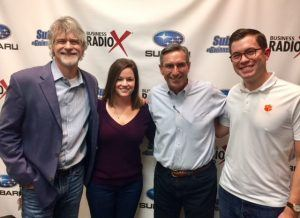 SIMON SAYS LET'S TALK BUSINESS: Rob Marbury & Shelly Hoffman with Marbury Creative Group and Patrick Stephens with Eckardt Electric