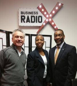 Kevin Greiner with Gas South and Milton Little with United Way Greater Atlanta