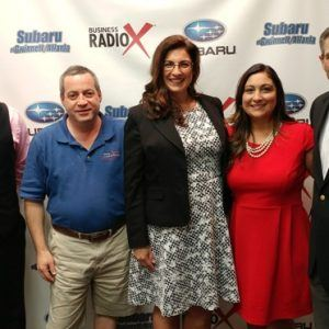 SIMON SAYS, LET'S TALK BUSINESS: Jennifer Bailey with Walden Businesses, Veronica Maldonado-Torres with Georgia Mentor Protégé Connection, David Buchsbaum with Atlanta Closet & Storage Solutions and Travis Giles with McMahan's Clothing