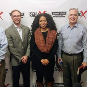 Bruce Wing with Strategic Wealth, Renee Barnes with ComplyTrain, and Andrew Walker with Brady Ware & Company