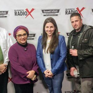 Danielle Claffey with Kuck Baxter Immigration, Soumaya Khalifa with Khalifa Consulting, and Jason Livy with Gateway Classic Cars