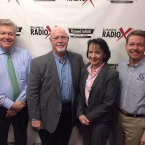 Ray Pope with @tlanta inbound, Deanna Armstrong with Alpharesults, and Peter Carpenter with Thoroughbred Design Group
