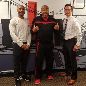 Jamar and Robert with CBL and Frank Ceballos with REACT
