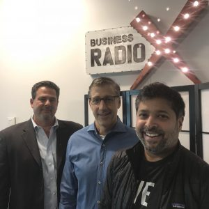 KP Reddy with Shadow Ventures, Pete Canalichio with Licensing Brands, Inc., and Jeff Cohen with Odyssey Inc.