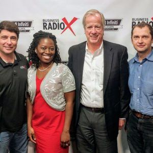 Monique Russell with Clear Communication Solutions, Jeff Lovejoy with ActionCOACH, and Christian Gruita with Pixel Metaphors