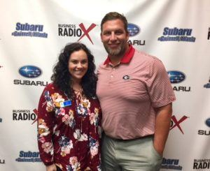 Russ Tanner with PrimeLending and Sara Dunn with Oconee State Bank