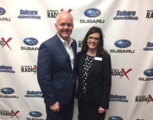 Robin Mauck with Obria Medical Clinics and Mike Fulton with Oconee State Bank