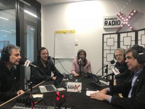 Timothy Kiser with Colo Atl, Brian Dally with Groundfloor, and Dara Albright with Dara Albright Media