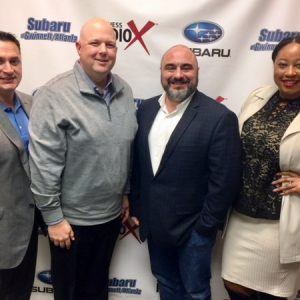 MEMBER SPOTLIGHT: Chris Mixon with Synovus, Chris Sanna & Melissa Martin with Atomic Wash, and Vince DeSilva with the Gwinnett Chamber of Commerce