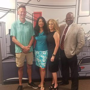 Dr Karen Jacobson with Bruce Wuollet Phil Singleton and Liza Czopp