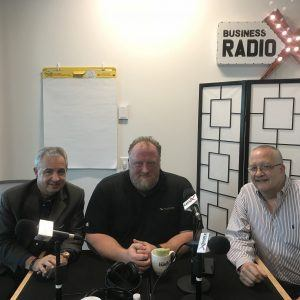 Will Seippel with WorthPoint Corporation, Len Romano with Christian City, Chad Massaker with Speakeasy