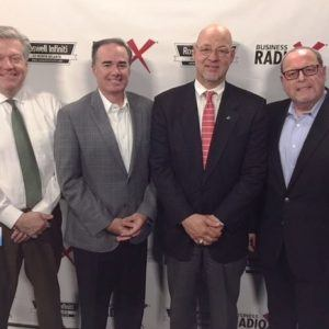 Ralph Pasquariello with Snellings Walters, Mike Sims with Vinings Bank, and Tony De Feria with tdeferiamedia inc.