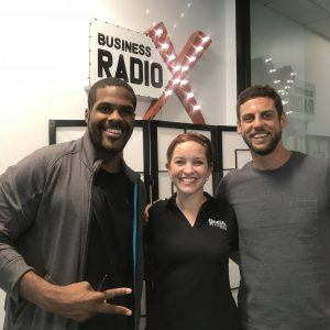 Andrew Levy with DTproductions, and Amy Tully and Dane Robinson with Onelife Fitness