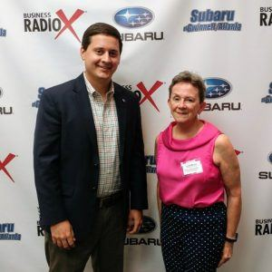 Wanda Stitt-Gohdes with the Oconee Area Resource Council (OARC) and Coleman Benko with Oconee State Bank
