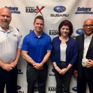 Eric Williamson & Lisa Ricker with WGTA a MeTV affliliate and DeWitte Thompson with Healthy Life and Fitness Consultants
