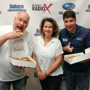 Briana Carson with Crave Pie Studio and Willie Degel with Uncle Jack's Meat House