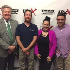 Diana Khatib with Clientele Global, Andy Bryan with Christian Brothers Roofing, and Jamie Jaffe with Brilliant Atlanta