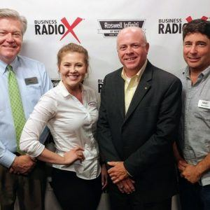 Bryanna Davis with Saucehouse BBQ and Phillip Williams with McDermott Financial Solutions