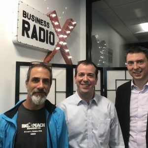 Nathan Feather with PrimeRevenue, Benjamin Rudolph with Relevance Advisors, Mike Cosentino with Big Peach Running Co.