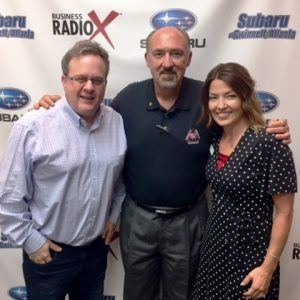 Randy Davidson with Georgia Entertainment News and Wanda Weegar with BrandBank