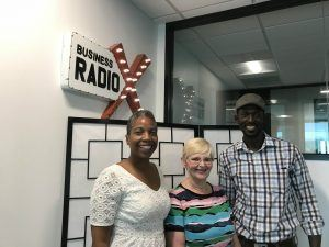 Cindy Bowden and Justine Okello with Clarkston Community Center