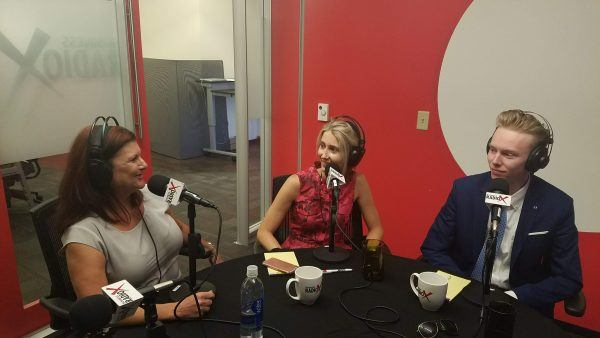Olenka-Cullinan-and-Zach-Faust-with-Michelle-Faust-on-Business-RadioX1