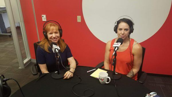 Stacie-Mallen-withCampusLogic-and-Kathleen-Gramzay-with-Kinessage-on-Phoenix-Business-RadioX1