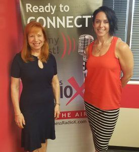 Stacie-Mallen-withCampusLogic-and-Kathleen-Gramzay-with-Kinessage-on-Phoenix-Business-RadioX2