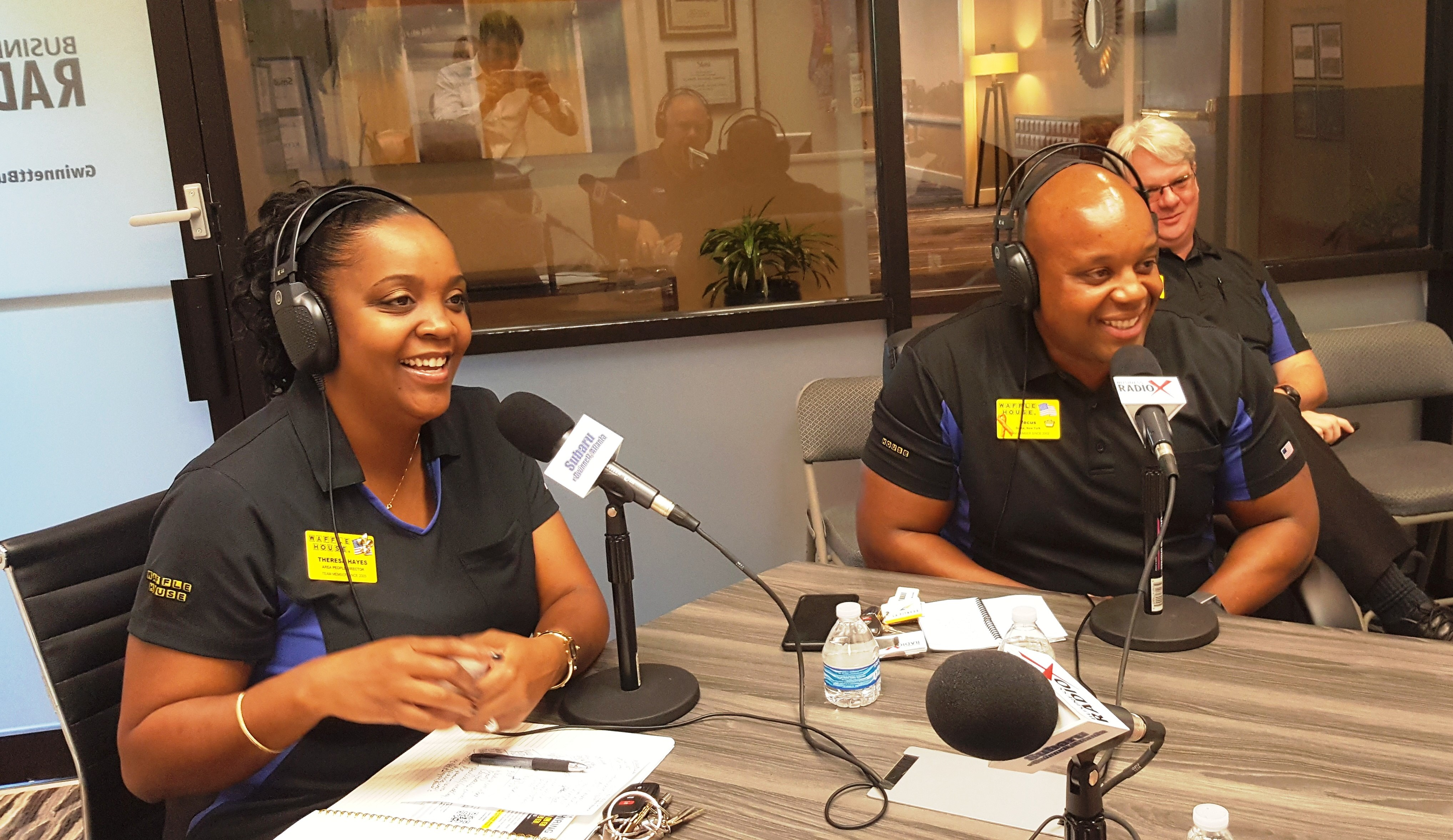 Vecus Miller & Theresa Hayes with Waffle House and Lowell Smoker