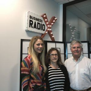 Fred Burke with Guardian Pharmacy Services, Stacey Savatsky with Museum of Contemporary Art of Georgia (MOCA GA), Sarah Hoots with SculptHouse