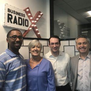 Genna Brown and Brandon Black with GIVIN Charity Simplified, Joshua Silver with Patientco, and Kevin Greiner with Gas South