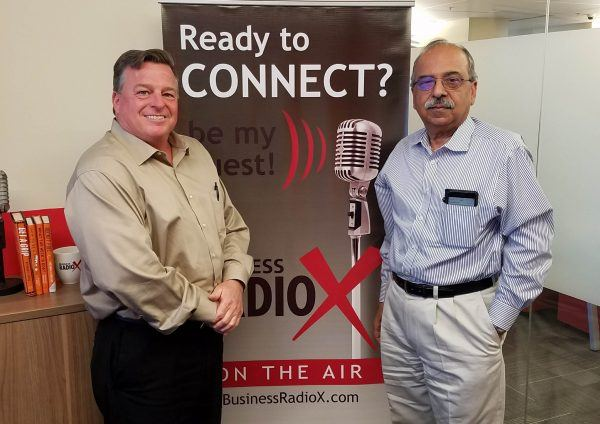 Humanitarian Raveen Arora with Think Human and Co-host Jim Hall with Crexendo