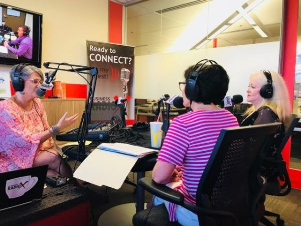 Sharon-Lechter-and-Kathleen-Duffy-with-2020-Women-on-Boards-Initiative-with-Karen-Nowicki-on-business-RadioX2