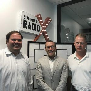 Adam Merlin with Merlin Auto Group, Brett Stevens with The SearchLogix Group, and Dr. Chris Hermann with Clean Hands – Safe Hands