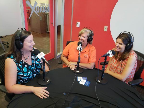 Jacqueline-Destremps-with-Sophia-Campbell-and-Theresa-Mckenzie-of-TCAA-on-Business-RadioX2