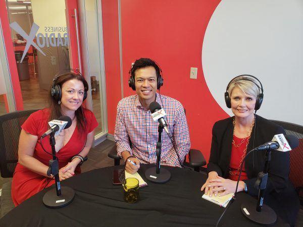 Radio-Host-Deb-Caron-with-Levelhead-CEO-Saundra-Schrock-and-Tallwave-COO-Ed-Borromeo-on-Business-RadioX2