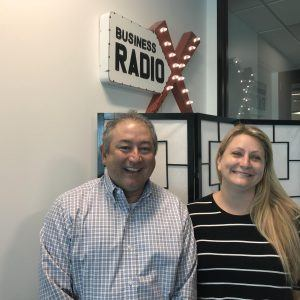 Ray Miciek with Aquitas Solutions and Lynn McKinnon with Foundations for the Future School