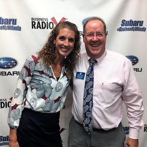 Courtney Bernardi with the Oconee County Chamber of Commerce and David Bradley with the Athens Area Chamber of Commerce