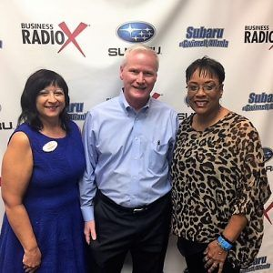 Joe Noonan with Southwestern Consulting, Pam Santoro with Berkshire Hathaway HomeServices Georgia Properties, and V. Lynn Hawkins with P3 Academy of Social Entrepreneurship