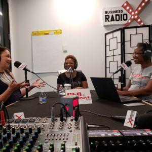 Shelbia Jackson with Dekalb Entertainment Commission and Sonja Szubski with City of Tucker