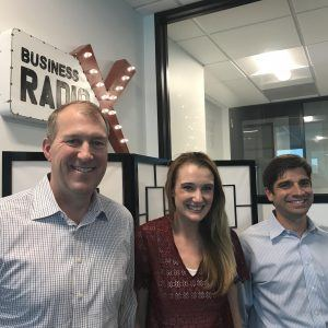 Allison Robinson and Mark Rankin with The Mom Project, and Steve Latham with Banyan Hills Technologies