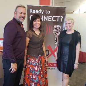 FABRIC Co-Founders Angela Johnson and Sherri Barry with AZ Apparel Foundation Chairman of the Board Thom Brodeur-Kazanjian