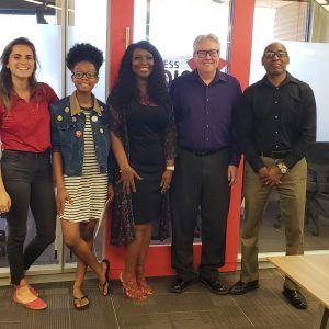 JOURNEY RADIO Designer Danielle Dickey and Coach Steve Feld and Managing Partner Warren Dickey and Volunteer Coordinator Annie Warren