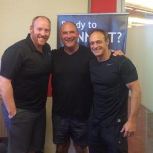 THINK FIT-GET FIT-STAY FIT Pinnacle Fitness Owner Luke Sullivan and DMB Properties Personal Trainer Bret Funk
