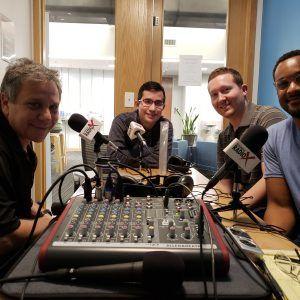 Andrew Gowasack with Trust Stamp, Landon Bennett with Ad Reform & Userfeed, Ugo Ezeamuzie with Bloveit